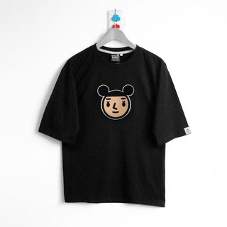【BestFriend】Drop Shoulder Oversized T-Shirt / Jumbo GirlFriend / 宽版五分袖T恤-黑