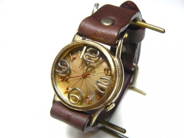 "Handmade watch HandCraftWatch ""On Time-B"" grilled / BR Mens [214B]"