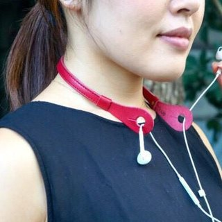 "New fall colors! Earphone neck holder ""iHooc"" -Antique Red-"