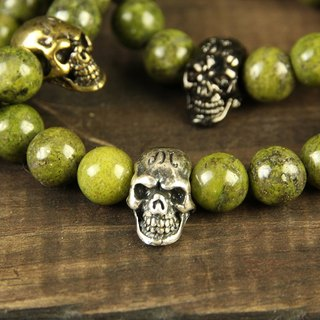 【METALIZE】Skulls 8MM Beaded Bracelet 骷髅8MM串珠手链