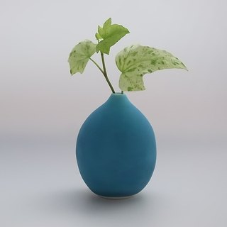 drop#2 turquoise  (porcelain small flower vase)