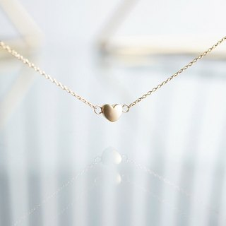 【14 KGF】 Necklace, Mat Gold Tiny Heart
