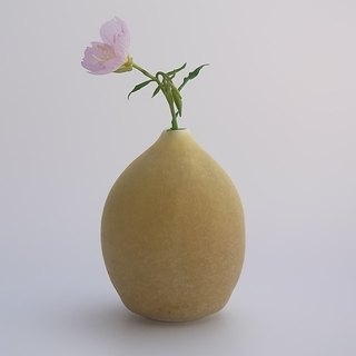 drop#2 yellow (porcelain small bud vase )