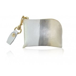 ISABELLA POUCHETTE HAND-PAINTED LEATHER (SILVERY LEMON)