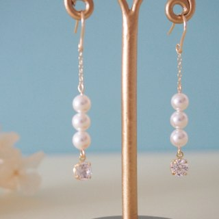 [14kgf] Swarovski Pearl Earrings