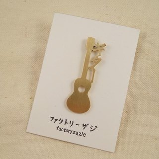 Guitar pin brooch