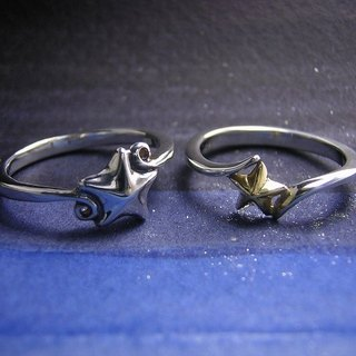 stars ζ ( gold silver star jewelry rings 星 海星 金 銀 戒指 指环 )