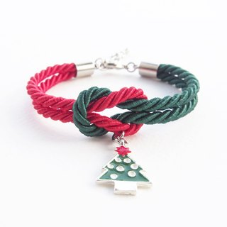 Christmas collection: red / green knot bracelet.