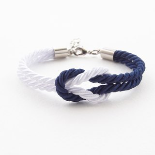 Allaah Beach bracelet - white - navy blue - nautical bracelet.
