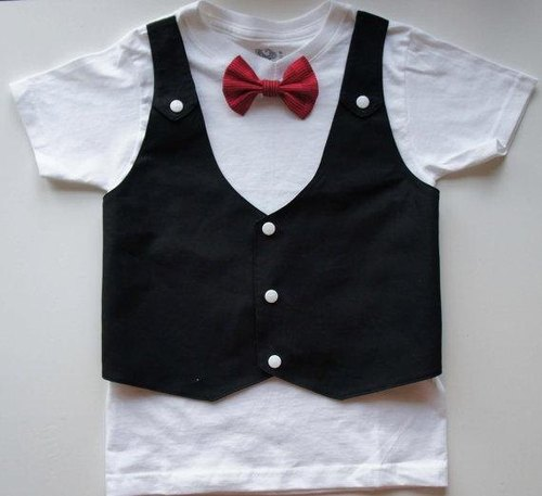 Tuxedos Boy Suit-Boy西装T-Shirt