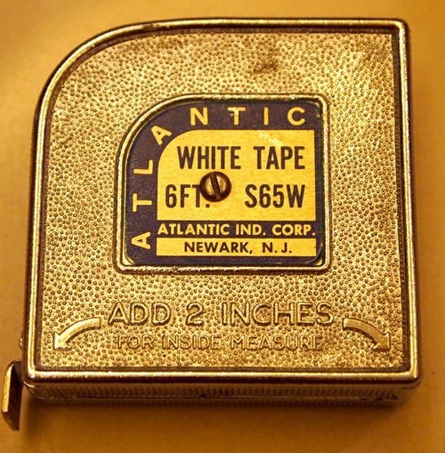 美国老工程卷尺 ATLANTIC WHITE TAPE