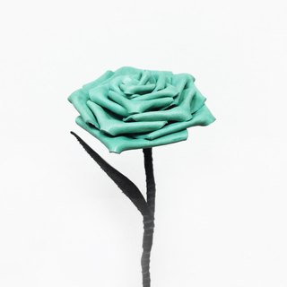 皮革湖水绿色玫瑰 Tiffany Blue Leather Rose