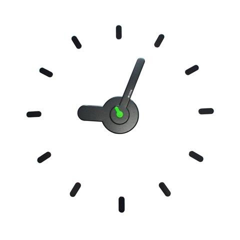 【On-Time Wall Clock】墙上贴・时计 [Dark Green]