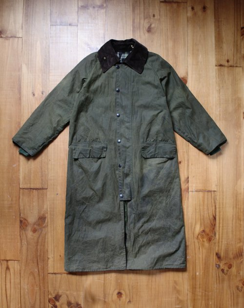 Rolling on [vintage] CJ-3312 Barbour burghley绿色长版外套