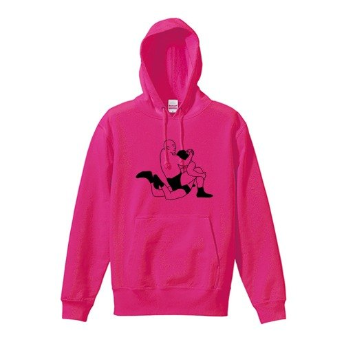Camel fixing sweat hoodie