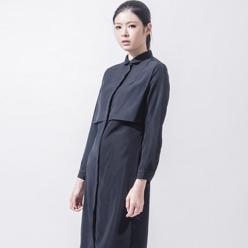 女长版衬衫 LONG BLOUSE WITH FRONT DETAILS