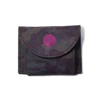 SAMA'PATTIBHYA'M® Tiger Sneered Camo Leather Card Case / 虎的嘲讽 纯手工 零钱包