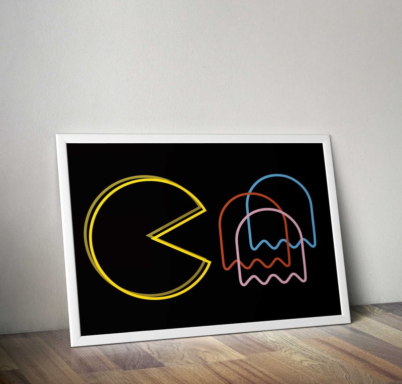 PAC-MAN tracing LOVE