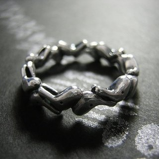 towa ( eternal rabbit sterling silver ring 兔 兎 永久 指杯 銀 )