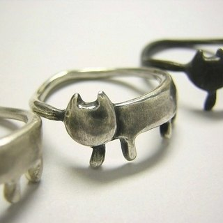 miaow ( cat sterling silver ring 貓 猫 指杯 銀 )