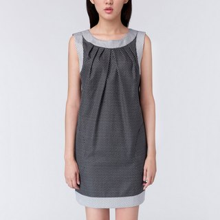 WD Ana Dress 黑底白点口袋洋装