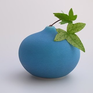 drop3 turquoise (porcelain small bud vase)