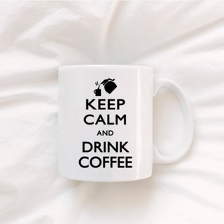 白杯 (330ml) keep calm and drink coffee