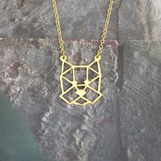 Yorkshire, Geometric, Dog Necklace, Pet Jewelry, Dog memorial, Dog gifts