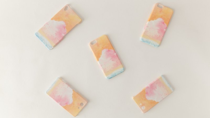 "Orders production] iPhone / Galaxy / Xperia Case ""of pink, cloud"""