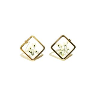 REVERIE JEWELLERY - Mini Golden Frame Earrings