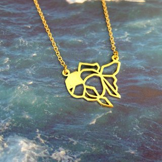 Goldfish, Origami Necklace, Fish-necklace, Fish gifts, Birthday gifts