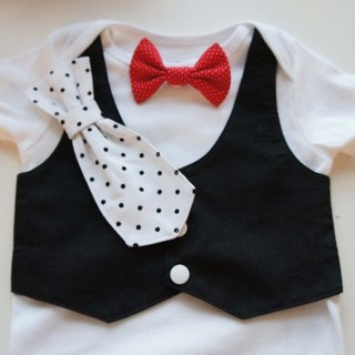 Tuxedos Baby Suit-BABY西装包屁衣/领带领结可更换