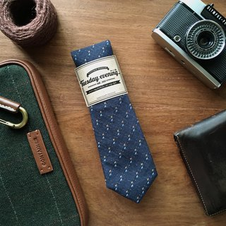 Neck tie Blue Dot Cross