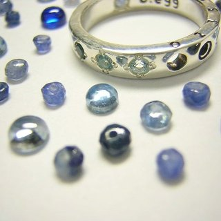 blue egg of happiness ( b.egg ) ( blue bird jewelry topaz moonstone ring 青 蓝鸟 卵 幸运 月长石 指杯 戒指 銀 )