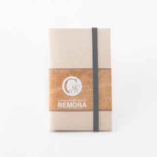 Durable Paper Wallet REMORA / Ivory&Gray