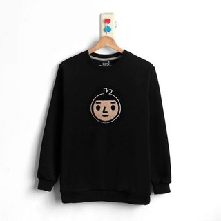 【BestFriend】Jumbo BoyFriend Long Sleeve Sweat / 长袖大学T (黑) / Size:1