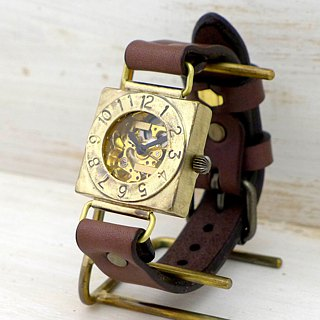 "Handmade watch HandCraftWatch hand-rolled Brass Mens ""Compass2-BHW"" BR"