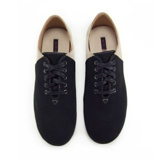Two Tone Lace-up Shoes M1105A BlackKhaki