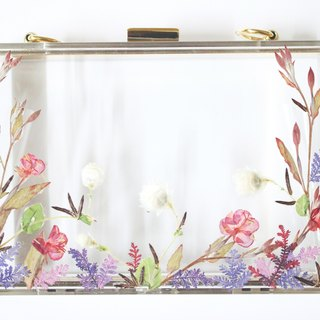 押花手提包 Pressed Flowers Clutch Tailor made