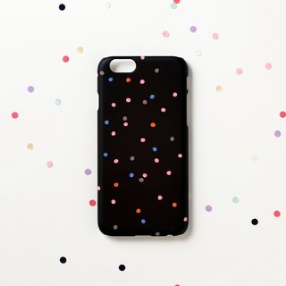 iPhone case - Multi colored dots for iPhones non-glossy D10