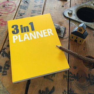 [Nuts Design] 3 in 1 Planner 笔记本 - 黄