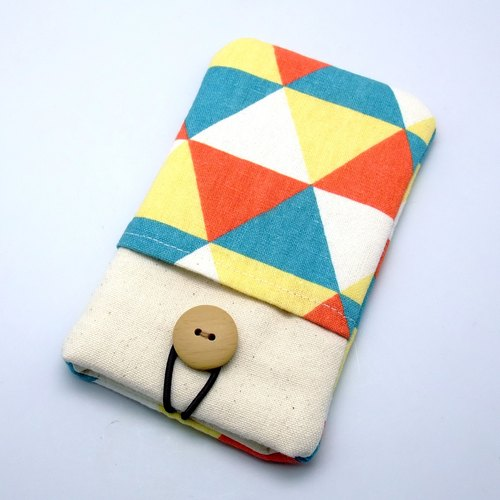 iPhone sleeve, Galaxy S4, S3, Galaxy Note 3, Note 2 pouch cover 自家制手提电话包, 手机布袋,布套 ,(可量身订制) - 三角形图案 (P-15)