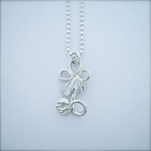 Clover and five one leaf necklace (cv-nk-2)