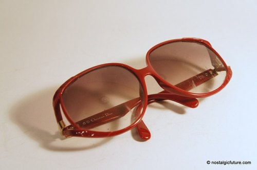 Vintage Christian Dior 德国制红框太阳眼镜 Made in Germany
