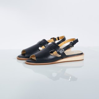 BLACK-MAPLE Open-Toe Sandals