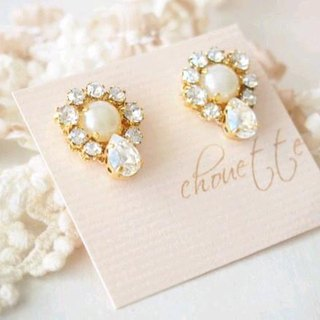 [14kgf] Crystal Bijou earrings (Moonlight)