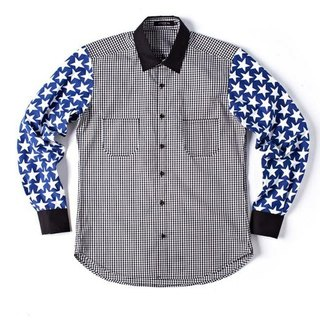 Stone'As Stars Print & Check Shirt / 星星格子衬衫