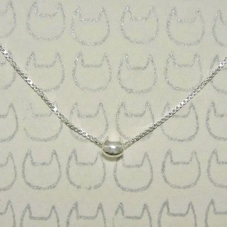 miaow icon necklace ( cat silver necklace 貓 猫 銀 颈链 )