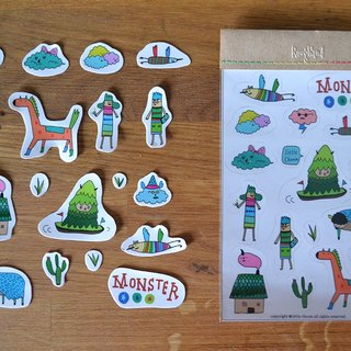 ✭✭✭Roughand x little choom Monster Sticker 小怪兽第三款