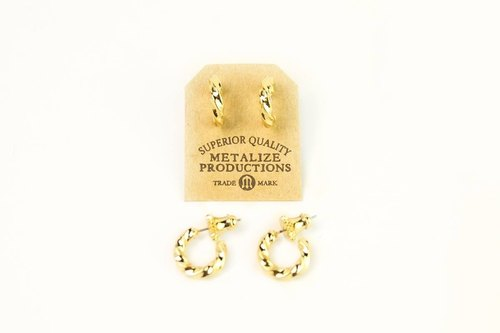 【METALIZE】M-Metal Rope Earrings 麻花耳环
